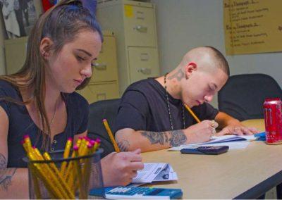 Students focused on classwork